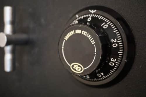 Image of a safe combination lock