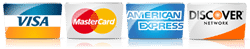 bayfront central accepts visa, master card, discover, and amex